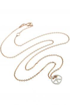 bicolor #peace #necklace I designed by delphes paris I NEWONE-SHOP.COM