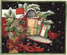 Susan Winget  #Illustration #Scrapbook #vintage #art journal #decoupage #christmas
