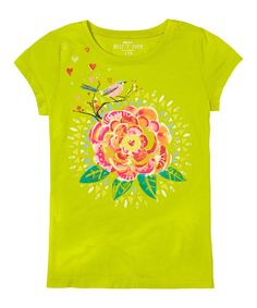 Take a look at the Limeade Carnation Tee - Girls on #zulily today!