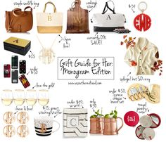 gift guide for her monogram edition, monogram christmas gifts, holiday monogram gifts, monogram gift ideas, gift ideas for her, christmas gift ideas for her, holiday gift guide, christmas gift guide, best gifts for 2016, best holiday gifts, best christmas gifts, stocking stuffers, preppy monogram gifts, preppy christmas gifts, preppy holiday gifts, holiday sales, holiday deals // grace wainwright a southern drawl