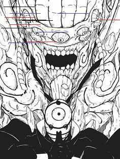 the legendary uchiha madara awakens his perfect and complete susano'o. and the perfect susano'o Manga Anime, Manga Naruto, Naruto Shippuden Anime, Naruto Kakashi, Madara Uchiha, Boruto, Mangekyou Sharingan, Naruto Sketch, Naruto Drawings