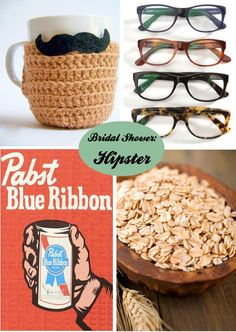 Mustaches and Hipster Glasses. Bridal Shower Themes for the Unconventional Bride