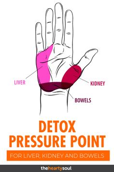 Incredible Detox Points: Press Them to Cleanse Your Liver, Kidneys and Bowels - Reflexology massage - Kidney Detox Cleanse, Cleanse Your Liver, Liver Detox, Body Detox, Healthy Cleanse, Body Cleanse, Point Acupuncture, Digestive Detox, Shiatsu