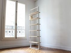 Librería independiente doble cara de madera Colección Séverin by Alex de Rouvray design | diseño Alex de Rouvray