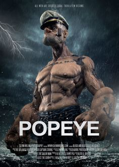 Popeye returns in a CG feature film featuring many of the series favorite characters like dainty Olive Oyl, rambunctious Swee'Pea, herculean Bluto, and of course, the unconquerable Popeye the Sailor Man. Cartoon Kunst, Comic Kunst, Cartoon Art, Cartoon Characters, Comic Books Art, Comic Art, Popeye Movie, Bd Art, Popeye The Sailor Man