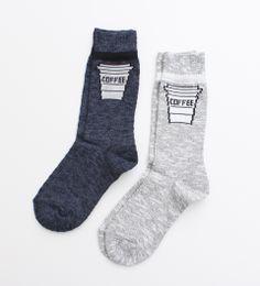 Medium coffee socks