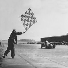 """In May 13, 1950 Giuseppe """"Nino"""" Farina crossed the finish line first at Silverstone"""