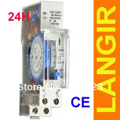 LANGIR SUL180A 15 Minutes Mechanical Timer 24 Hours timer Switch Programmable Din Rail Timers Measurement Analysis Instruments #Affiliate