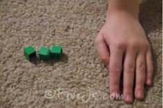 """Hide and Guess"" game for addition and subtraction practice with manipulatives"