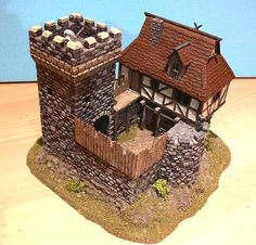 Toy Castle, Warhammer Terrain, Game Terrain, Medieval Houses, Wargaming Terrain, Tabletop, D Craft, Fortification, Warhammer Fantasy