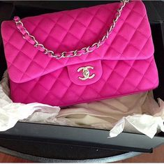 Pink quilted Chanel handbag