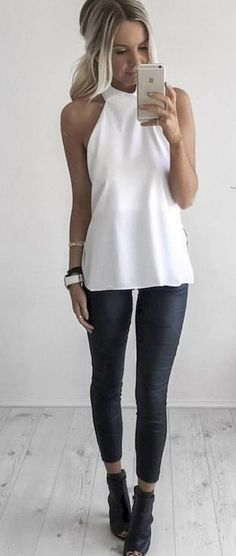 Simple summer outfits ideas to copy right now (31)