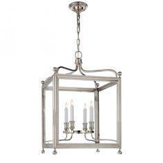 Greggory Medium Lantern in Polished Nickel