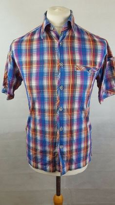 39d9d4bc6 MENS FAT FACE SHIRT SIZE UK XS - RED WHITE BLUE CHECK DESIGN #fashion #
