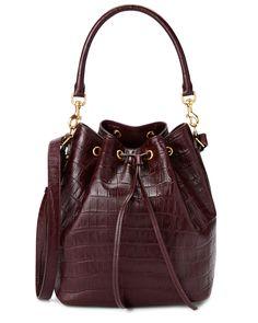 Spotted this Saint Laurent Emmanuelle Croc-Embossed Leather Medium Bucket Bag on Rue La La. Shop (quickly!).