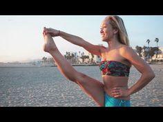 Beach Yoga, Utthita Hasta Padangusthasana with Kino Kino Macgregor, Sacral Chakra Healing, Beach Yoga, Big Toe, Self Realization, Yoga Videos, Asana, Physical Fitness, Poses