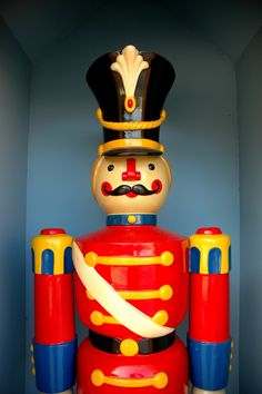 one of the giant toy soldiers just outside the entrance of a kindergarden i found somewhere around waterloo