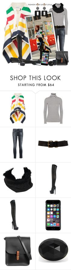 """Simply Cute Street Style"" by msmith801 ❤ liked on Polyvore featuring Monse, Splendid, R13, Lauren Ralph Lauren, Fendi, Casadei, Off-White, N'Damus, Effy Jewelry and contestentry"