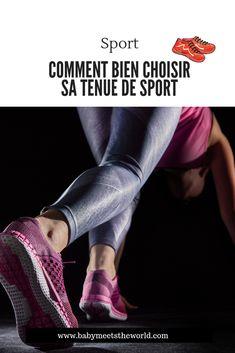 Comment bien choisir sa tenue de sport | Sport – Babymeetstheworld - Blog maman - Blog Voyages Hiit, Vive Le Sport, Legging Sport, Movie Posters, Fitness Shoes, Black Leggings, Excercise, Thigh, Travel