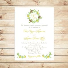 Wedding Invitations  Winter Wedding Invitations by Whimsicalprints