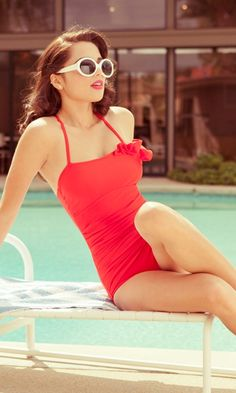 Retro swimsuit.