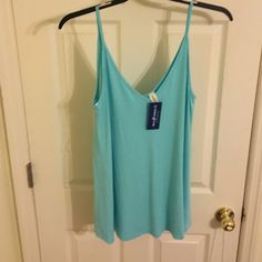 Blue tank Sky blue tank top. Soft and new Boutique Tops Tank Tops