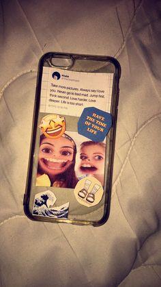 18 ideas for diy phone case iphone life Cute Cases, Cute Phone Cases, Iphone Phone Cases, Phone Covers, Best Friend Cases, Friends Phone Case, Best Friends, Diy Tumblr, Iphone 7 Coque