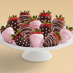 These juicy strawberries are all dressed up to celebrate the arrival of a little one. Each succulent strawberry is hand-dipped for a delicious combination of flavors. Pink drizzle adds an extra touch of sweetness in honor of that darling baby girl!