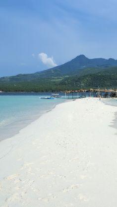 Beautiful White Beach Of Camiguin Island , Philippines