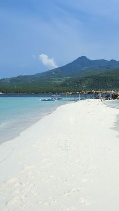 Beautiful White Beach Of Camiguin Island , Philippines