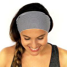2017 Summer Womens Stretchy Horizontal Stripe Hairband Deep Blue Headband Sporty Lady Hair Accessory #Affiliate