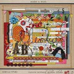 Make a Wish  Digital Scrapbooking kit for birthday by sahlink, $7.99
