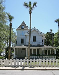 Beautiful old homes are everywhere in and around downtown Saint Augustine, FL