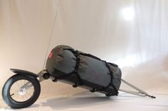 T2 single wheel bicycle trailer. For more great pics, follow www.bikeengines.com