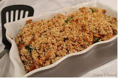 Cuisine 2 Soeurs: Crumble salé brocoli-patate douce healthy {Battaille Food #42}