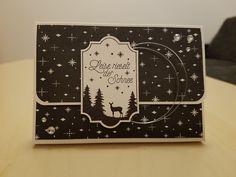 Verpackung - Stampin' Up! - Bastelparty - Weihnachten - Weihnachtliche Etiketten - Flüsterweiß und Schwarz