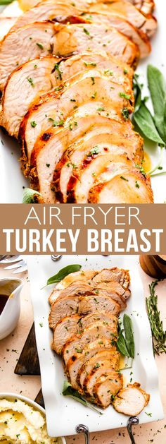 Juicy, tender, and ultra-fast, this Air Fryer Turkey Breast sizzles with flavor! You'll love the crispy skin and buttery, garlicky flavor brightened with herbs and spices.