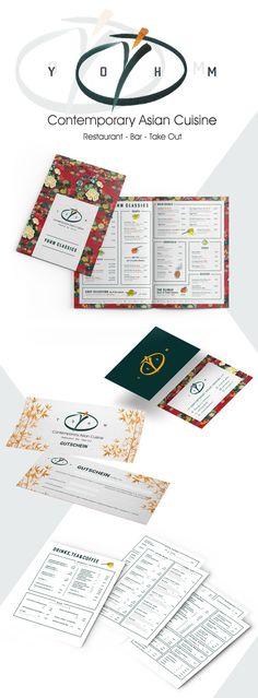 YOHM - Corporate Design - designed by Designerpart - www.designerpart.com Web Design, Logo Design, Corporate Design, Grafik Design, Restaurant Bar, Designer, It Works, Bullet Journal, Contemporary