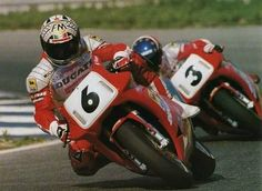 Giancarlo Falappa vs Raimond Roche (SBK DUCATI 888 Team) 1990