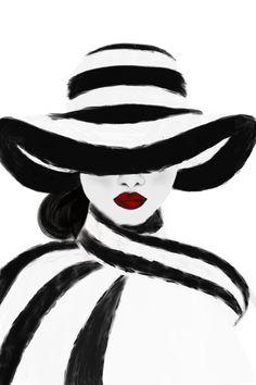 Dangerous Woman Art Print by Scubaprincess - X-Small Cool Art Drawings, Art Drawings Sketches, Diy Canvas Art, Acrylic Art, Female Art, Art Girl, Fashion Art, Modern Art, Art Prints