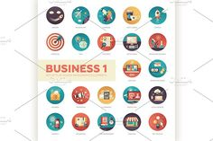 22 Business Flat Icons Set 1 by Decorwith.me Shop on @creativemarket