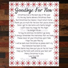 66 Best Elf Goodbye Letter images | Merry christmas, Christmas