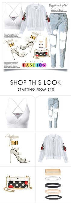 """Looking Like I caught a Lick!"" by veronicawantscurves ❤ liked on Polyvore featuring Doublju, WithChic, RED Valentino, Accessorize and Smith & Cult"