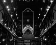 The Space Shuttle Endeavour is lifted inside the Vehicle Assembly Building before being mated to its external fuel tank and Solid Rocket Boosters. The VAB, built to house the Saturn V rocket that took Americans to the moon, is one of the largest buildings in the world. It sits on eight acres and rises to 525 feet.    Photo: Philip Scott Andrews