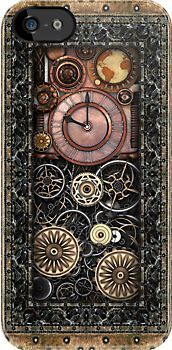 """""""Infernal Steampunk Timepiece #2B iPhone Case"""" iPhone & iPod Cases by Steve Crompton   Redbubble"""