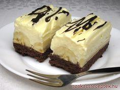 Cheesecake s čučoriedkovou šľahačkou No Cook Desserts, Delicious Desserts, Dessert Recipes, Yummy Food, Delish Cakes, Czech Recipes, Hungarian Recipes, Brownie Cake, Pastry Cake