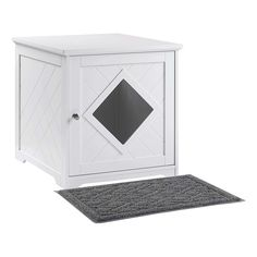 unipaws Cat Litter Box Enclosure with Mat, Privacy Cat Washroom best price: PET PRIVACY GIVEN: Pets want their very own protected spot the place they will have their privateness for potty time and really feel protected within the Hiding Cat Litter Box, Cat Litter Box Enclosure, Hidden Litter Boxes, Litter Box Covers, Indoor Pets, Wooden Cat, Pet Furniture, Cupboard Storage, Washroom