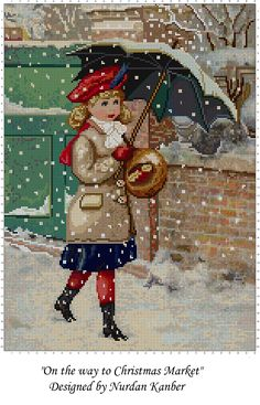"""""""On the Way to Christmas Market"""" Designed by Nurdan Kanber"""