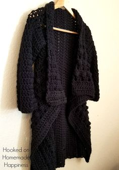 Everyday Black Cardigan Crochet Pattern