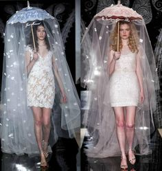 Reem Acra Spring / Summer Bridal Collection - Latest Fashion Styles For Women's 2016 2017 Fashion Art, Runway Fashion, High Fashion, Fashion Show, Womens Fashion, Fashion Design, Haute Couture Style, Recycled Fashion, Inspiration Mode